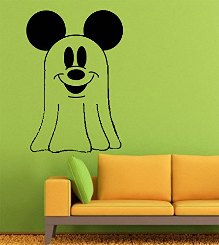 Halloween Wall Decals – Vinyl Halloween Stickers Men Kids – Horror Stickers Car Truck Ghost Silhouette Spirit Dead Boo to You Mickey Mouse Disney GMO2795