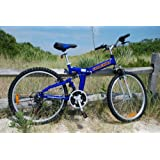 "Columba 26"" Alloy Folding Bike w. Shimano Blue (RJ26A_BLU)"