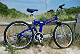 "Image of Columba 26"" Alloy Folding Bike w. Shimano Blue (RJ26A_BLU)"