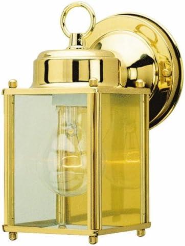 Westinghouse Lighting 66936 One Light Exterior Wall Lantern, Polished Brass