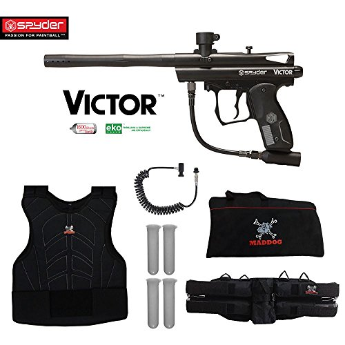(MAddog Spyder Victor Sergeant Paintball Gun Package - Black)