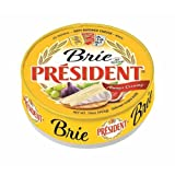 President Soft Ripened Brie Cheese Wheels, 16 Ounce - 6 per case.