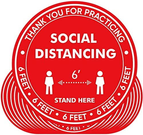 Social Distancing Anti Slip Floor Stickers Black Decal Shop Supermarket School