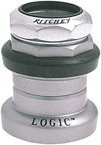"New Ritchey Logic Threaded 1-1//8/"" Headset Silver Black"