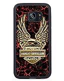 BEIWU Generic S7 Edge TPU Case,Harleydavidson 14 Black Carrying Case for Samsung Galaxy S7 Edge