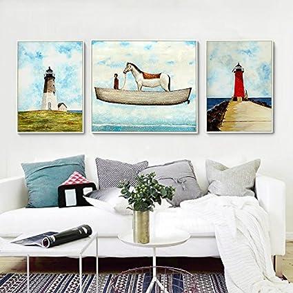 ZZZSYZXL Salotto moderno semplice della parete della pittura per ...