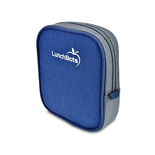 """LunchBots Classic Sleeve - Blue - Carrying Case for LunchBots Uno, Duo, Trio, Quad Classic 5"""" x 6"""" Containers"""