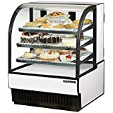 True Mfg TCGR-36, 37 Wide Curved Glass Refrigerated Bakery Display Case