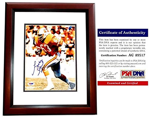 (Lee Roy Selmon Signed - Autographed Tampa Bay Buccaneers - Tampa Bay Bucs Bucs 8x10 inch Photo - Deceased 2011 - MAHOGANY CUSTOM FRAME - Certificate of Authenticity (COA) - PSA/DNA Certified)