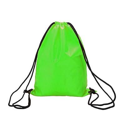 PANDA SUPERSTORE Sports Sacs à dos à cordon [Vert] Ensemble de 2 sacs à dos imperméables