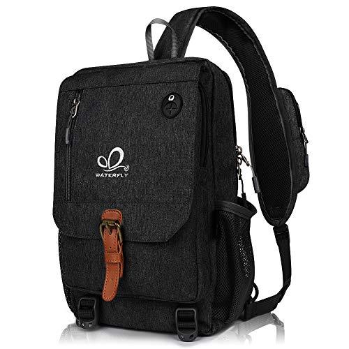 Waterfly Messenger Bag Sling Backpack Crossbody Sling Bag Laptop Shoulder Bag for Men Women Hiking Travel Outdoor Daily Fit 13.3