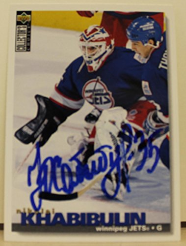Nikolai Khabibulin Winnipeg Jets Autographed 1995-96 UD Collectors Choice Card Autographed - Hockey Slabbed Autographed Cards