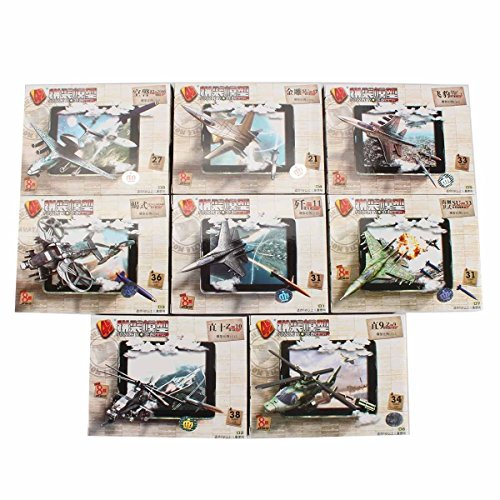 Model Aircraft Servos (NEW 4D Air Fighter Aircraft Model Figure Plastic 8pcs Aero Plane Kits Toy)