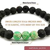 Morchic Natural Green Imperial Jasper Lava Rock