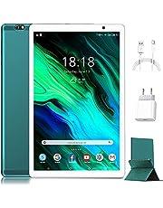Tablet 10 inch - 4G LTE Android 10, 4 GB RAM + 64 GB ROM, octa-core-tablets, geschikt voor DAD/Meet/Bluetooth/GPS/WiFi, stereogeluid met dubbele luidsprekers