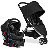 Britax 2017 B-Agile Travel System with B-Safe 35 Infant Car Seat - Birth to 55 Pounds, Raven