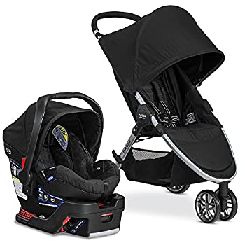 Image of Britax 2017 B-Agile Travel System with B-Safe 35 Infant Car Seat - Birth to 55 Pounds, Raven Baby