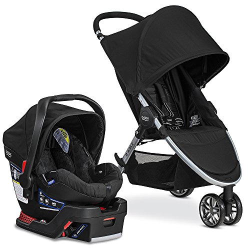 Britax 2017 B Agile & B Safe 35 Travel System, Black (Travel System Car Seat Adapter)