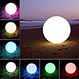 LOFTEK® Outdoor/Indoor Rechargeable LED Light, Cordless with Remote Control RGB Color Changing. (Ball 16)
