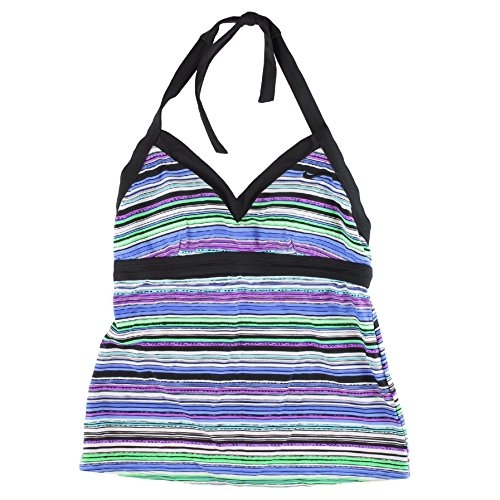 Nike Running Suits (Nike V-Neck Halter Tankini Top for Women Size 6, Rainbow Purple)