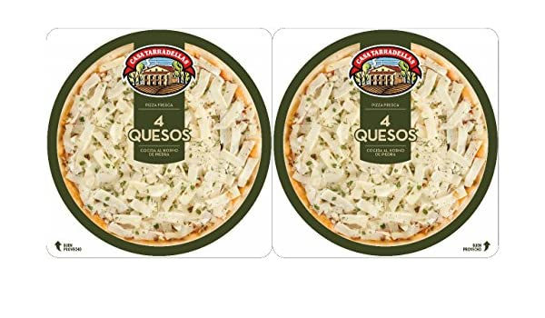 Casa Tarradellas - Pack Pizza Fresca 4 Quesos, 2 x 210 g: Amazon ...