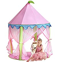 Princess Castle Tents,KINDEN Portable Kids Play Tent Children Playhouse Playhouse Gaming Reading Room (Pink)