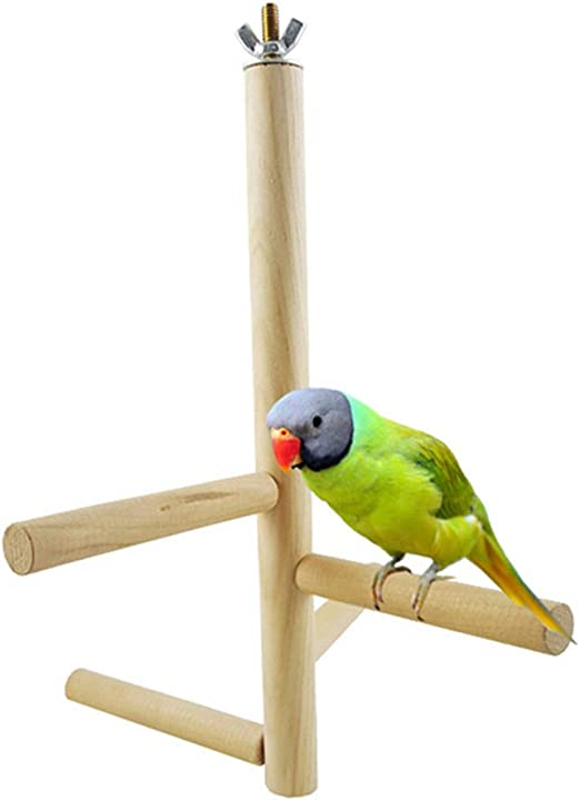 Balacoo Bird Perch, Stand de Escalera de Madera, Escalera giratoria de Cuatro etapas, Juguetes de Jaula de pájaros Naturales para Conure, Periquitos, Periquitos, Cockatiels, Lovebirds: Amazon.es: Jardín