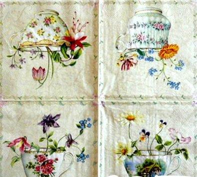 Napkins Decoupage#10 33x33 Cm. 2 Sheets/design 5 Designs Total 10 Sheets