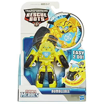 Playskool Heroes, Transformers Rescue Bots, Bumblebee Figure (Motorcycle): Toys & Games