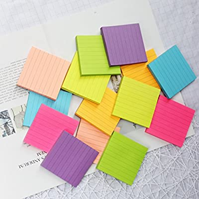 Early Buy Bright Color Lined Sticky Notes Self-Stick Notes