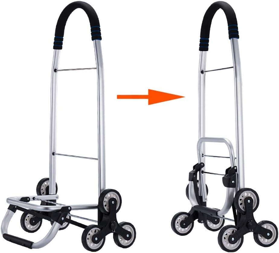 Color : 4 Gwclk Shopping cart Summer Aluminum Shopping cart Small cart Old Man Home Light Shopping cart Climbing Stairs Folding Trolley