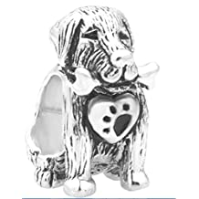 Sterling Silver Dog Bone Heart Paw Print Charm Sale Cheap Beads Fit Pandora Jewelry Charms Bracelet Gifts