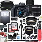 Canon EOS Rebel T7i DSLR Camera with EF-S 18-55mm is STM 75-300mm Lens + 2X 32GB Ultra SDHC UHS Class 10 Memory Card + Accessory Bundle (2 Lens Kit EF-S 18-55mm & EF 75-300mm)