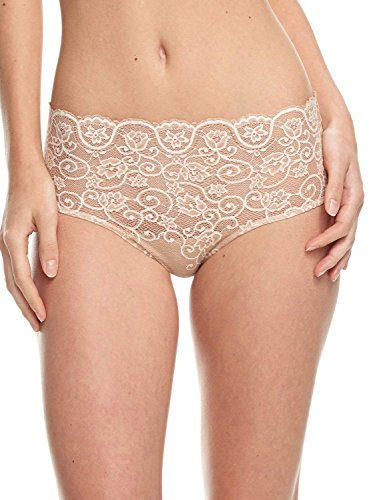 commando Double Take Lace Bikini Panty (BK05) S/M/Cross-Dyed Ivory