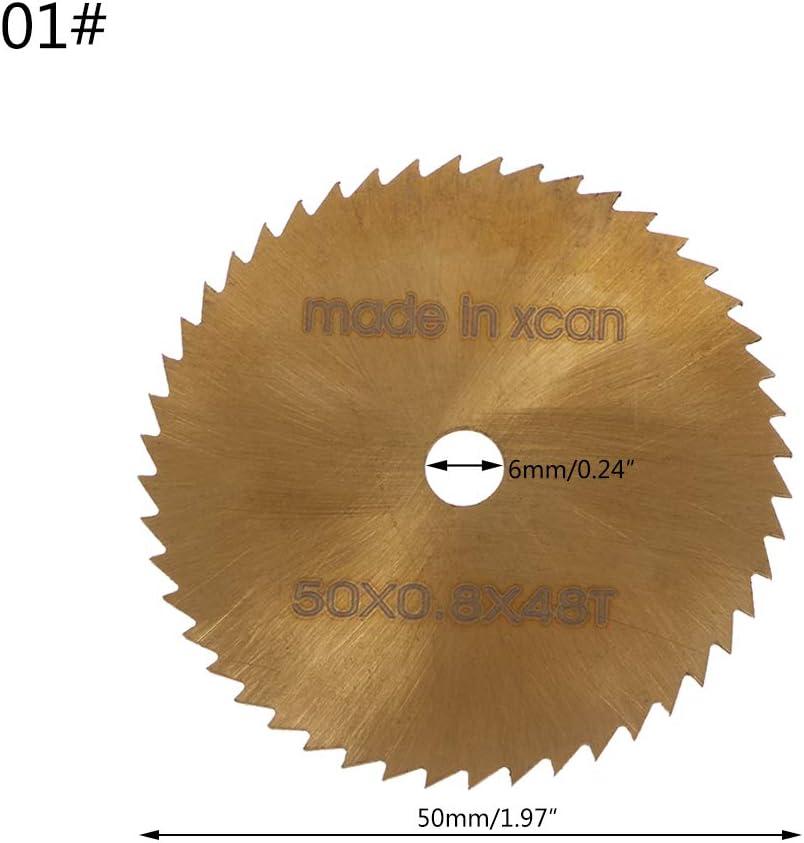 MIKI-Z Mini-Lame de scie Circulaire HSS rev/êtue TI Outils de Coupe rotatifs Ultra-Minces Disque de Coupe