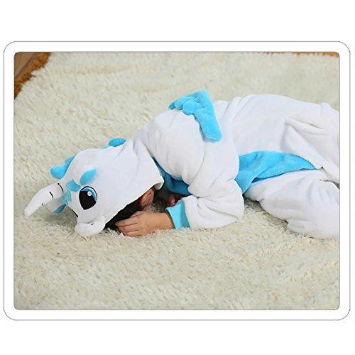 f7ab8c0660b94 on sale Missbleu Deguisement enfant pyjama combinaison animaux pyjama  polaire enfant Licorne bleu taille 140