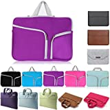 "Fashion Waterproof Laptop Sleeve Portable Hand Bag for 13.3 inch Apple Mac Macbook Air Pro/HP Dell Acer Asus Lenovo (13"" Purple)"