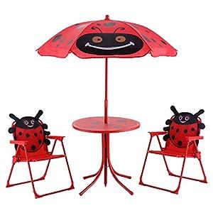 Cotzon Kids Patio Set Outdoor Garden Table Chair Children Yard Furniture
