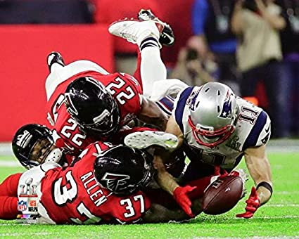 71c3f37e66b Image Unavailable. Image not available for. Color  New England Patriots  Julian Edelman Makes The Catch Of A Lifetime During Super Bowl LI Trophy