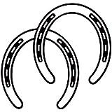 馬 HORSE SHOES ホース うま ウマ uma 蹄鉄 ていてつ 動物 シルエット ステッカー シール デカール ブラック
