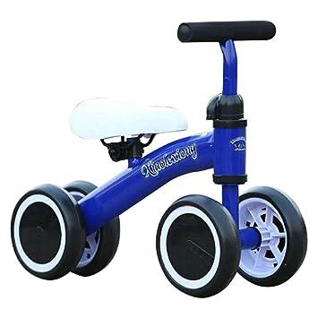 Decdeal Niños Equilibrio Bicicleta 4 Ruedas Sin Pedales Marco de Acero Juguetes para Montar en el bebé Twist and Wiggle Scooter por 10-36 Meses: Amazon.es: ...