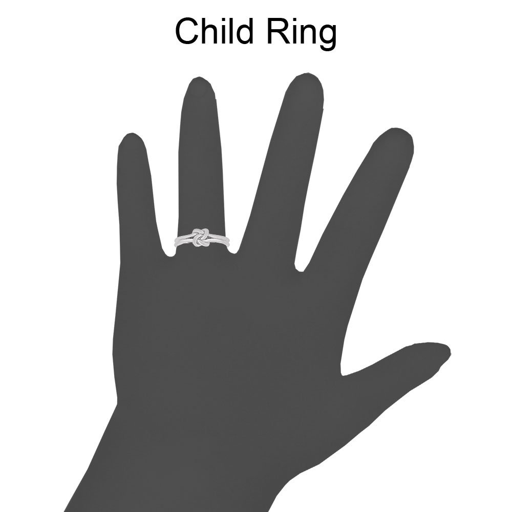 14k White Gold, Small Size Baby Child Kid Ring Band Love Knot Design by GiveMeGold (Image #3)