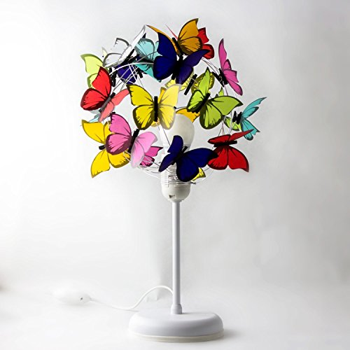 Bedside lamp with Butterflies-Room Decor,Butterfly Decor, Room light,Kids Decor,Baby Nursery,butterfly lover, fun light,decorative light