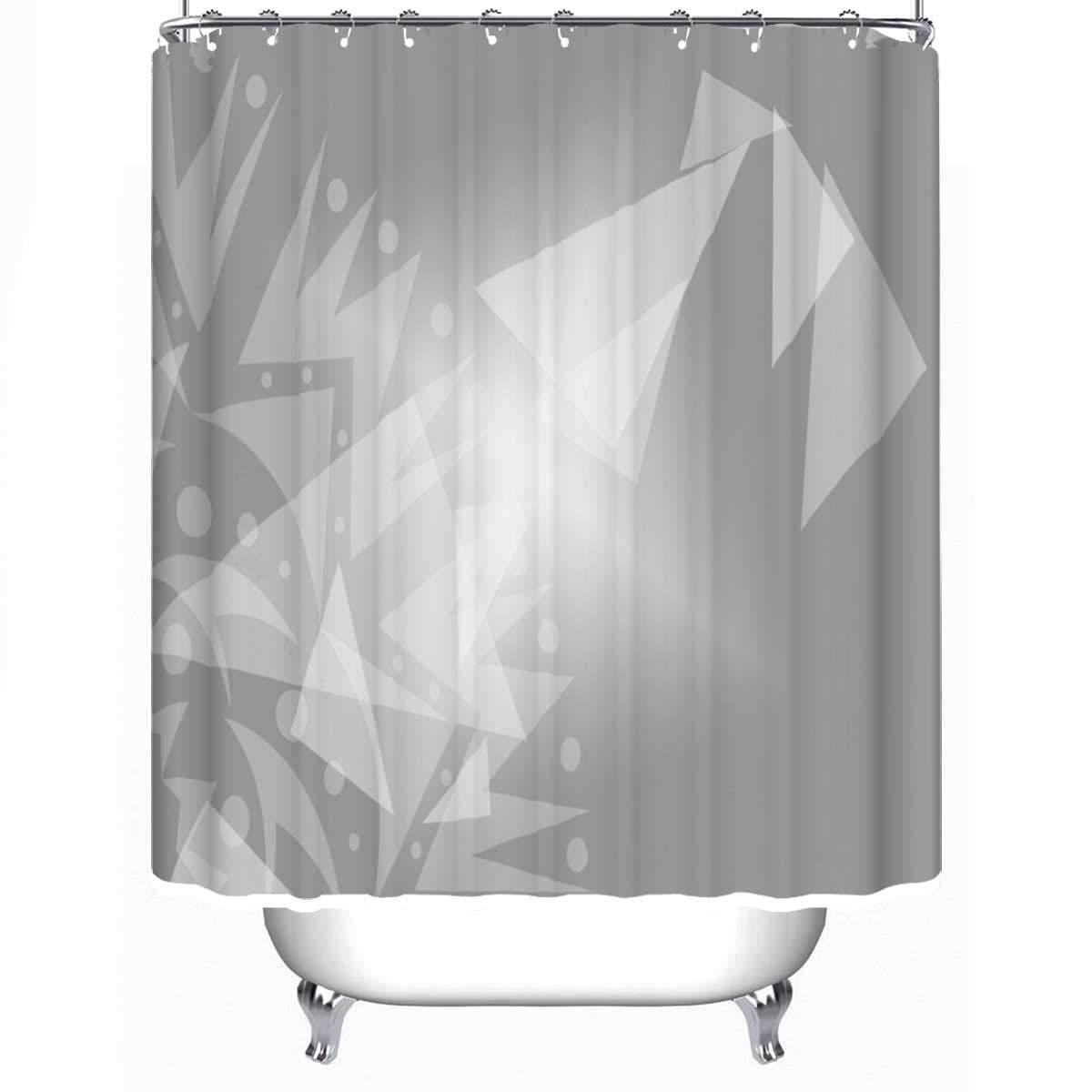 YOLIYANA Stylish White Background Presentation Printing Business Shower Curtain Turquoise Shower Curtain 79''Long x 71''Wide