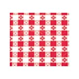 Winco TBCO-70R Checkered Table Cloth, 52-Inch x 70-Inch, Red