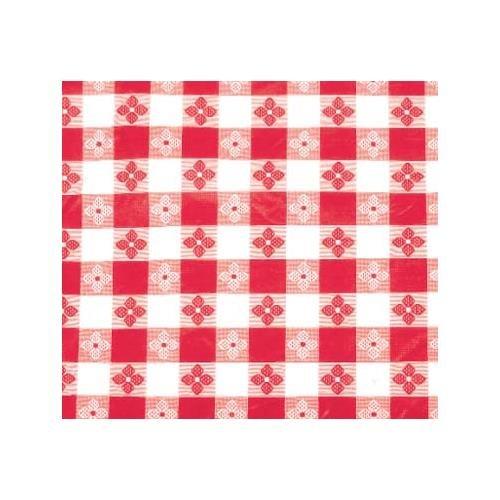 Winco TBCO-70R Checkered Table Cloth, 52-Inch x 70-Inch, Red
