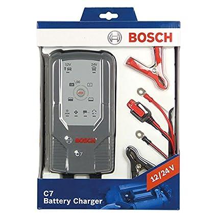 Bosch C7 - 12 y 24 V inteligente/Smart cargador de batería: Amazon ...