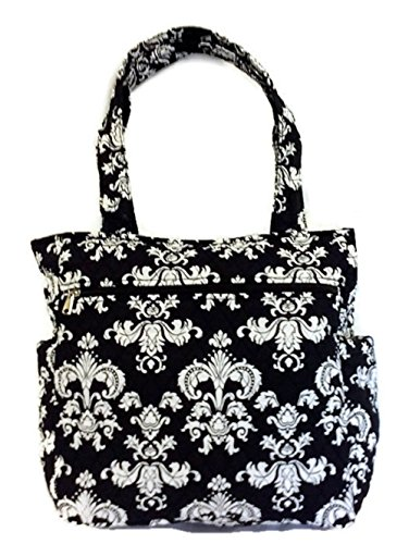 Large Travel Beach Tote Quilted Cotton Shoulder Bag - 15 inches by 2beYOUnique