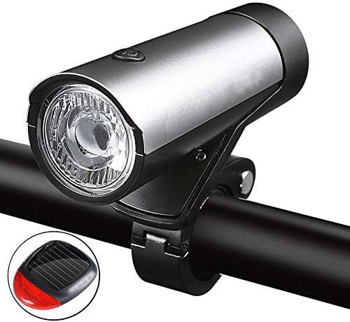 自転車ライトグループ、USB充電調整可能な角度の簡単なインストール防水ヘッドライトとテールライトの組み合わせ
