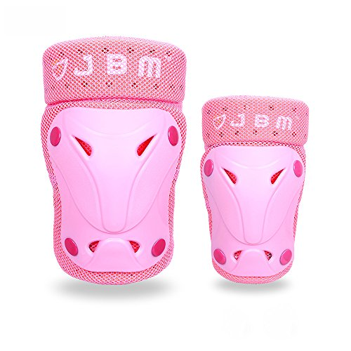 JBM Protective Gear Knee and Elbow Pads Support Guards for Multiple Sports Protection Safety Gear Equipment - Skate & Skateboarding, BMX Biking, Inline Skating, Scooter, Cycling (3 Color Options)